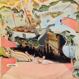 Collaged record sleeve