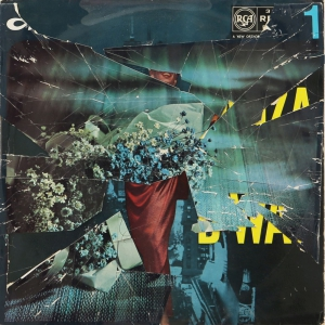 Collaged record sleeve ( Cracked Actress)